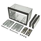 tomzz Audio ® 2400-009 2DIN Doppel ISO DIN Metal Rahmen Einbauschacht Radioblende Einbausatz Einbaurahmen