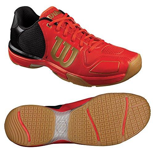 Wilson Vertex, Baskets Basses Homme Multicolore - Rojo / Negro / Dorado