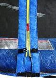 SixBros. SixJump 2,45 M Gartentrampolin Blau Intertek / GS geprüft Trampolin – Leiter – Sicherheitsnetz – Wetterplane – CST245/L1609 - 2