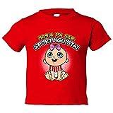 Camiseta niño nacida para ser Sportinguista Sporting Gijón fútbol - Rojo, 3-4 años