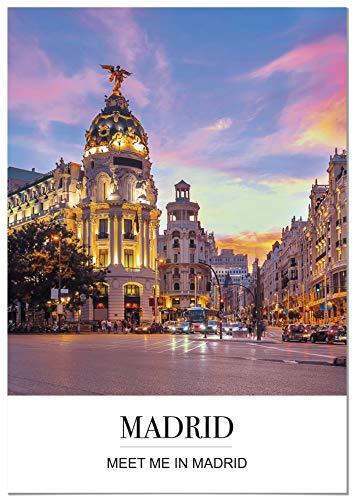 Panorama® Póster Ciudad Madrid Mensaje 21 x 30 cm