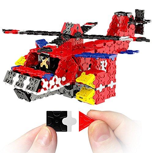 WEofferwhatYOUwant Hubschrauber 3D Puzzle Bausatz für Kinder im Alter von 6-12 Jahren - FLATBLOCKS 591 Teile (DIY) 6