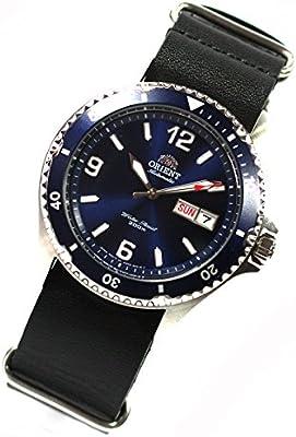 Orient 5Deep Mako II Buceo reloj Professional Diver AA02002de piel NATO