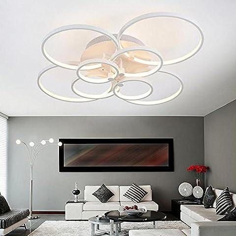 Fx@ Accesorios de luces súper delgado Circel anillos led techo lámpara lámpara salón dormitorio moderno techo led lámpara moderna , Cool white , L1200xW860xH230mm
