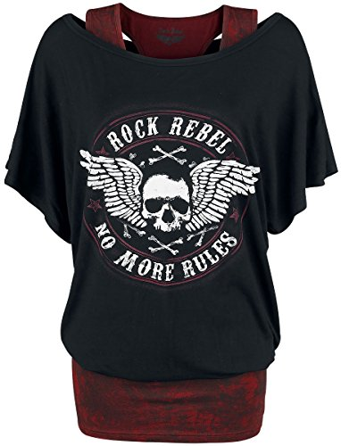 Rock Rebel by EMP Break The Circle Girl-Shirt Schwarz Schwarz