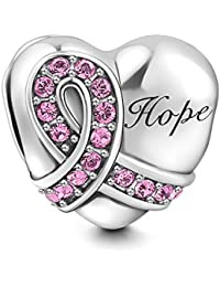 Soufeel 925 Sterling Silber Pinkfarbene Schleife Kristall Charm Bead
