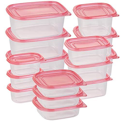 Rosenstein & Söhne Lunch-Box: 30-teiliges Frischhaltedosen-Set BASIC, BPA-frei (15 Dosen) (Kunststoff-Frischhaltedosen-Sets)