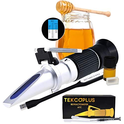 TEKCOPLUS Optik Honig Zuckerfeuchte Brix Baume Refraktometer ATC, Verdreifachen-Größe 58-90{fc18205c4cbaa279397735d83ec72f3045860e551d97f26a9dd2e6ba4b39f243} Brix, 38-43 Be \'(Baume)