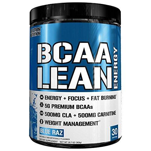 Energie-wasser-himbeere (Evlution Nutrition BCAA Lean Energy - energetisierende Aminosäure für Muskelaufbau und Ausdauer, mit einer Fatburner Rezeptur, 30 Portionen (Blaue Himbeere))