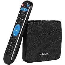 TINGGAOLI Android Smart TV BOX 6.0 Quad Core 360 ° Fernbedienung 4K WIFI Q1 Pro 16.0 Miracast 4K 1GB + 8GB, H.265, 3D Player