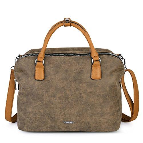Vbiger Damen Handtasche Damen Henkeltasche Damen Aktentaschen Umhängetasche Schultertasche Cross-body Tasche (Aktentasche Handtasche)