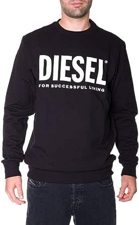 Diesel Men's S-Gir Division Logo Sweat Black