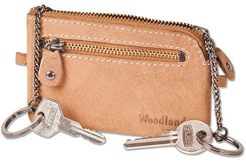 woodland-borsa-in-pelle-chiave-con-2-portachiavi-e-cerniere-in-metallo-realizzata-in-morbido-pelle-d