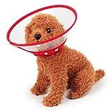 Fliyeong Restauration Cone Collar für Hunde und Katzen Durchsichtiger, gepolsterter Schutzkragen mit weichem Rand. Atmungsaktiv