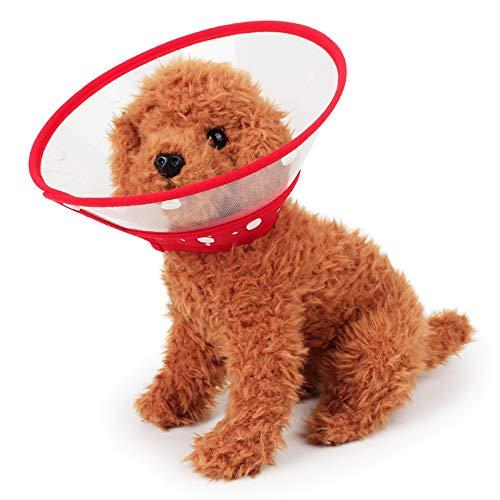 Ogquaton Cuello Redondo de restauración para Perros y Gatos Cuello de protección Acolchado Transparente con Borde Suave Transpirable