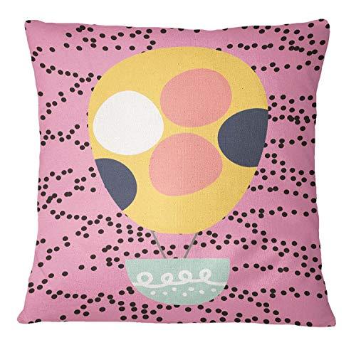 Timingila Rosa Satin Kissenbezug Polka Dot & Heißluftballon Sofa Kissenbezug Home Dekorative Platz Kissenbezug Werfen 1 Stck - 12 x 12 Zoll Rosa Polka-dot Satin