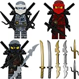 Ninjago Lego 3er Figurenset Ultimate 17 - Hands of Time Zane Kai Cole mit 11 GALAXYARMS Waffen Schwerter + 6 Bonus Schwerter