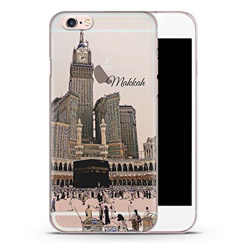 iPhone 6 & 6s transparente SLIM Hülle - Panorama Makkah Mekka - Motiv Design Islam Muslimisch Schön - durchsichtige Handyhülle Hardcase Schutzhülle Cover Case Schale Hardcover