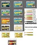 Lieblingsköder Set Komplettpaket alle Farben Shad Stint Gummifisch 12 Packungen 10cm