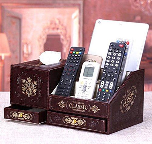 POPE scatola di carta creativo retrò cassetti scatola del tessuto Universal Remote box box di stoccaggio cosmetici pompaggio vassoio di pompaggio ( colore : 1# )