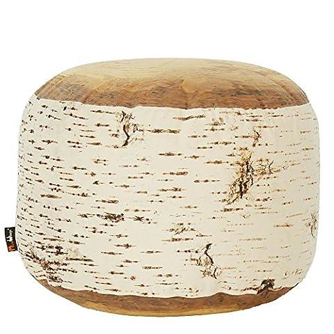 MeroWings–Tabouret en forme de tronc de bouleau–60x 35cm–Birch