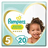 Pampers Premium Protection Taille5, 20Couches, 11kg-16kg