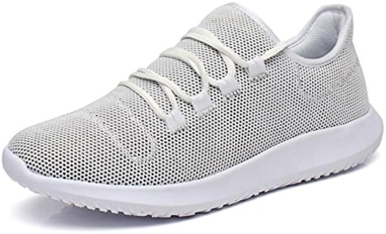 Hemei 2018 - Zapatillas de Deporte para Hombre (Lona, Transpirables, cómodas, 44 Unidades), Color Blanco