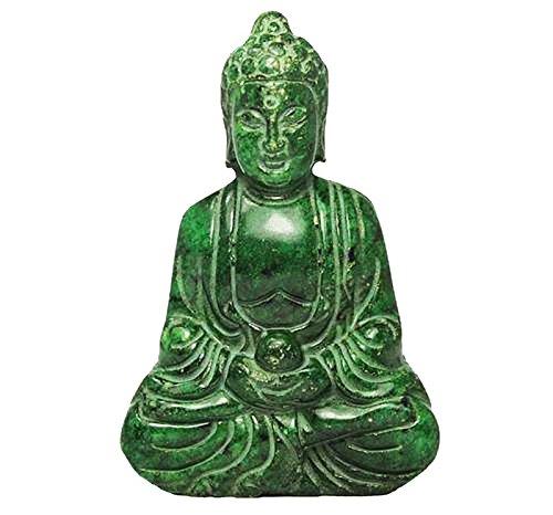 Wizard Stone Buddha handgemachte schnitzende alte Jade Statue O-44 (Jade-statue Groß)