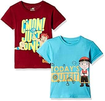 Chhota Bheem Boys' T-Shirt (Pack of 2) (GGAPP-CMB166A_Multi Color_2 - 3 years)