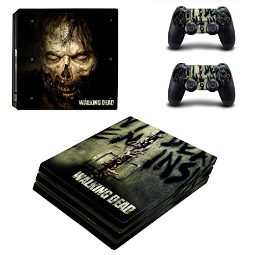 Playstation-4-Pro-2-Controller-Aufkleber-Schutzfolien-Set-The-Walking-Dead-PS4-P