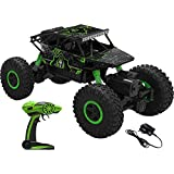 VDNSI Dirt Drift Waterproof Remote Controlled Rock Crawler RC Monster Truck, Four Wheel Drive, 1:18 Scale 2.4 Ghz - Random Color