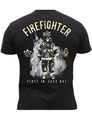 Rescue Point Firefighter Fireman Feuerwehr Herren T-Shirt KF11A