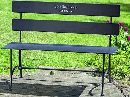 –Panchina da giardino posto preferito l108cm marrone ferro verniciato a polvere