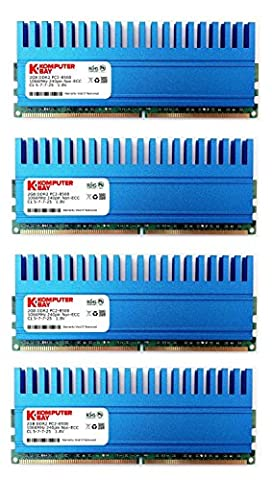 Komputerbay 8GB (4x 2GB) 240 Pin 1066MHz PC2-8500DDR2 DIMM Memory Module with Crown Series Heatspreaders