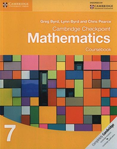 Cambridge checkpoint mathematics. Coursebook. Per le Scuole superiori. Con espansione online: 7 (Cambridge International Examin)