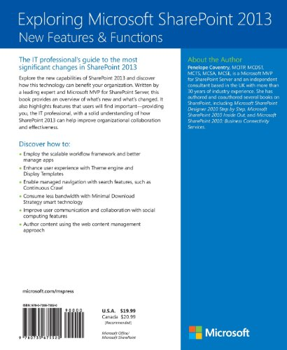 Exploring Microsoft SharePoint 2013 – New Features  and Functions