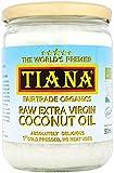 TIANA Fair Trade Organics Raw Extra Virgin Coconut Oil 500ml (Pack of 2)