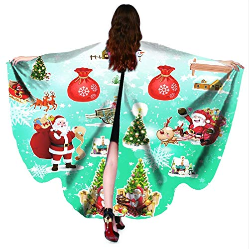 Lotus 2018 Damen Halloween/Weihnachten/Party-Schal mit Schmetterlingsflügeln, Schal, Poncho, Schal - mehrfarbig - 168x130 cm