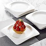 Malacasa, Series Rosana, Piatti di Dessert in Porcellana Bianca Crema 18 Pezzi 21 cm Avorio Bianco Porcellana Piatto Dessert