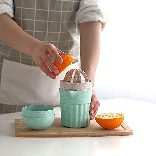Trada Mini Entsafter, Neu Manuelle Saft Tasse 1 Stück Bar Manuelle Getränk Orange Zitrone Zitruspresse Limette Fruchtsaft Hand Entsafter Squeezer Sportflasche Tasse Mixer Juicer (Zufällig)