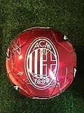 Pallone Rosso Autografato A.C. Milan 2019/2020 Firmata Firme Giocatori
