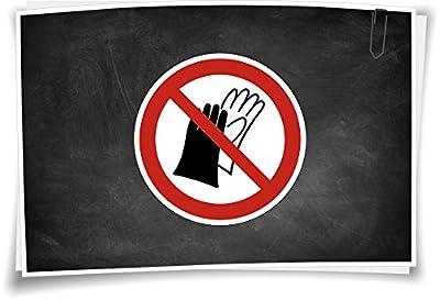 Verbotszeichen P028 Das Benutzen von Handschuhen ist verboten Verbot Aufkleber