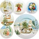 großer XL Teller / Plätzchenteller / Platzteller - Ø 33 cm - Weihnachten - Motiv-Mix - Unterteller - Platzteller - Weihnachtsteller / Keksteller - groß - Plät..