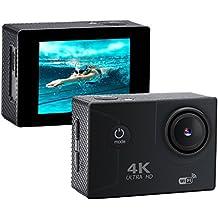 """xikezan 4K WIFI Action-Kamera 16MP Wasserdichte Sport und Tauch Cam DV Camcorder mit 2.0 """"LCD-Bildschirm & 170 ° Weitwinkelobjektiv (Schwarz)"""