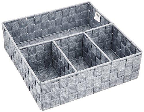 WENKO 21534100 Organizer Adria Grau - Badorganizer, 100 {6a81ea0995e49819a42f4b38c71e16c826a1aa629ecf3ef6dc8051904fd2c4c9} Polypropylen, 32 x 10 x 32 cm, Grau