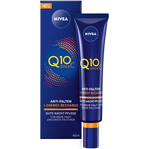 Nivea Q10 Plus C Anti-Falten, Energy-Recharge Gute-Nacht-Pflege, 1er Pack (1 x 40 ml)