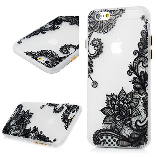 Cover iPhone 6,iPhone 6S Silicone Flessibile Sottile Satinata - Lanveni Custodia Gel TPU Protettiva Shell Case Cover Con Nottilucenti Per iPhone 6/6S Modello di Fiore Diagonal Fiore Diagonal