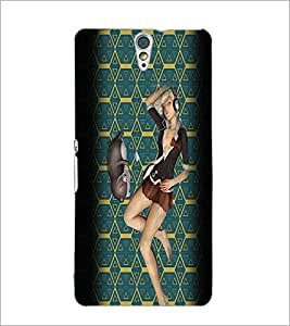 PrintDhaba Music Girl D-2939 Back Case Cover for SONY XPERIA C5 ULTRA (Multi-Coloured)