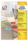AVERY Zweckform L4793-20 Farbige Etiketten gelb