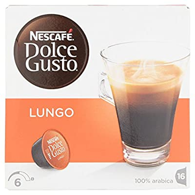 Nescafe Dolce Gusto Lungo Coffee Pods 16 Capsules - Pack of 3 (Total 48 Capsules) from NESA4